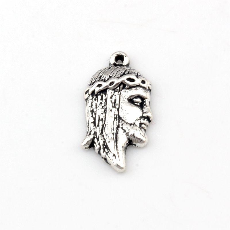 Jesus Charm Pendentifs 100Pcs / lot Antique silver Fashion Religion Bijoux DIY Fit Bracelets Collier Boucles D'oreilles 10.8x20mm A-490