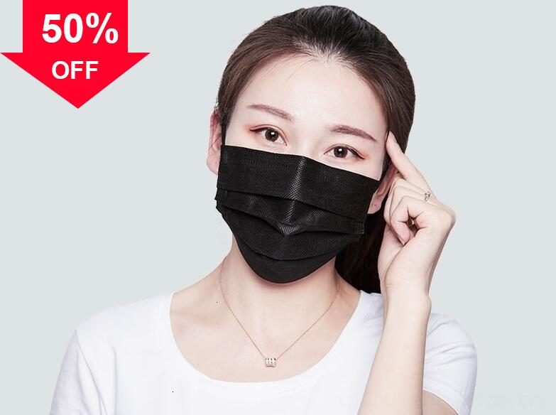 yVvC8 In Stock Adult Child Non-woven Melt-blown Cloth Disposable Mask Anti 3 Layers Protective Face Masks Anti-pollen Anti-dust maske