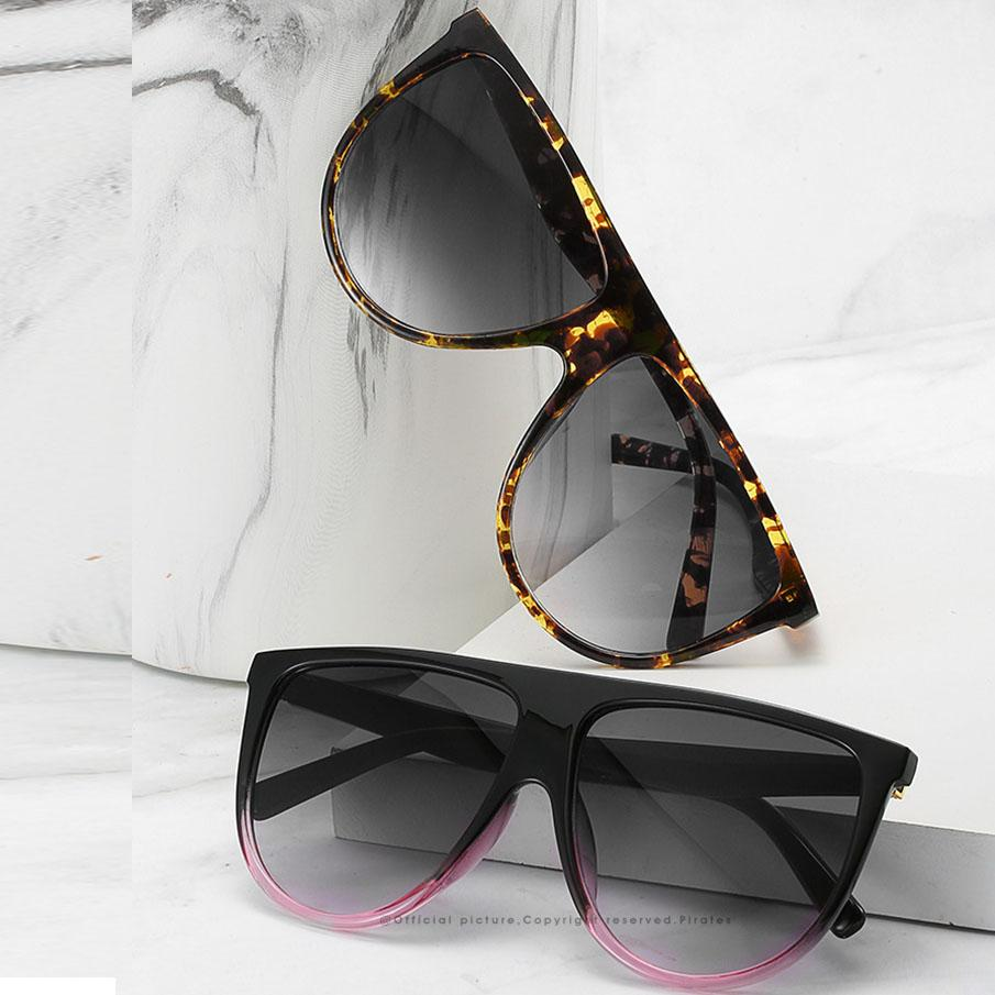 2020 gafas de sol frescas de las gafas mujeres de los hombres enormes lentes de vidrio de sol llanta dama fotograma completo óvalo de la vendimia gafas de sol de las gafas redonda calle