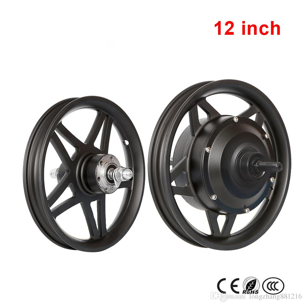12'' 14'' 16'' Front Wheel And Rear Drive Wheel Kit High Speed Motor 48V250W Brushless Gear Hub Motor Lithium Electric Bicycle