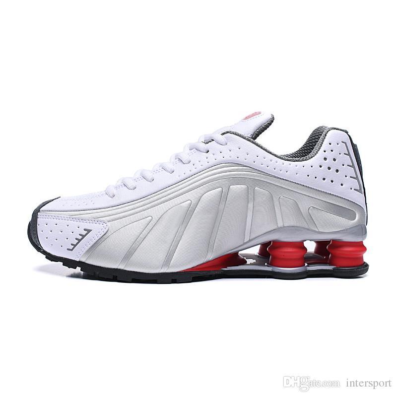 Compre Nike Shox 2019 Deliver RZ 301 Shox Calzado De Running Para Hombre Mujer Blanco Rosa Negro Gris OZ NZ Zapatillas De Deporte Para Hombre