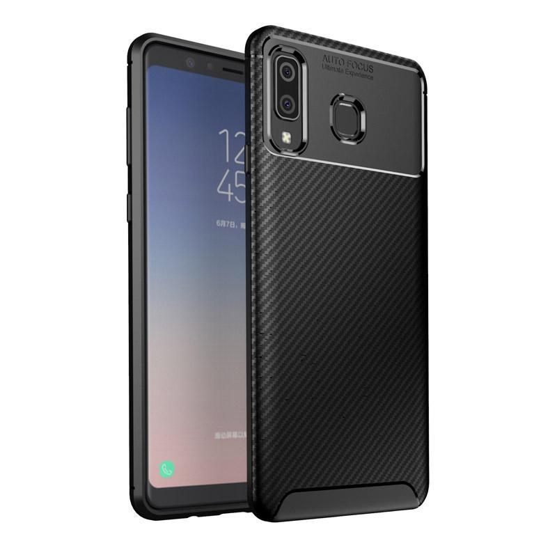 TPU крышка телефона углеродного волокна противоударный чехол для телефона матовый лаконичный мобильный телефон защитная задняя крышка для Samsung A9 Star