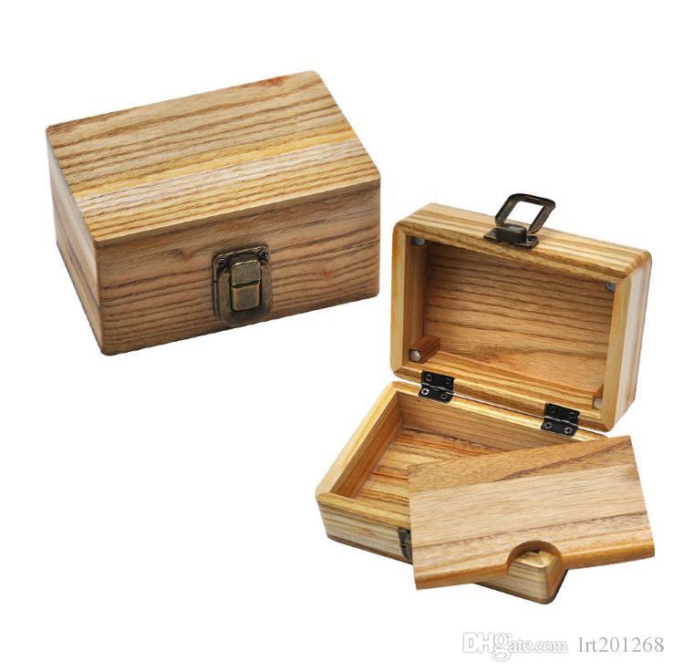 Mesa de operação para mamadeira de madeira Caixa de cigarro com tampa dupla de madeira de cânfora