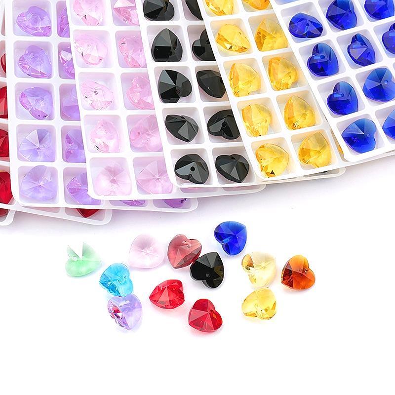 Migliore qualità 14mm 28 pz / pacco 6228 ciondolo cuore austria fascini cuore di cristallo perline gemme per gioielli accessori orecchino fare
