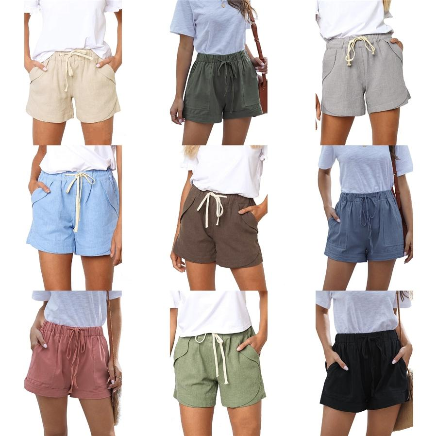Frauen-Sommer-beiläufigen Tech Fleece Baggy Sweat-Strand-Hosen-Frauen-beiläufige Daily Short Kleidung # 881