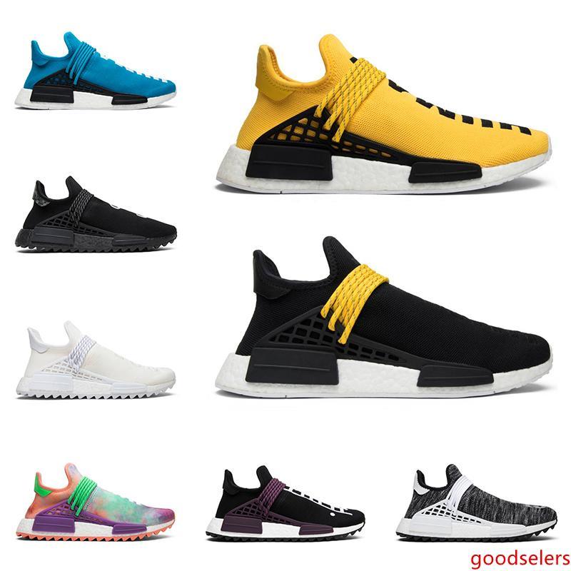 2019 Sıcak insan ırkı Pharrell Williams erkek bayan ayakkabı NERD Boş Tuval sarı erkek eğitmenler moda koşucular spor spor ayakkabıları çalışan