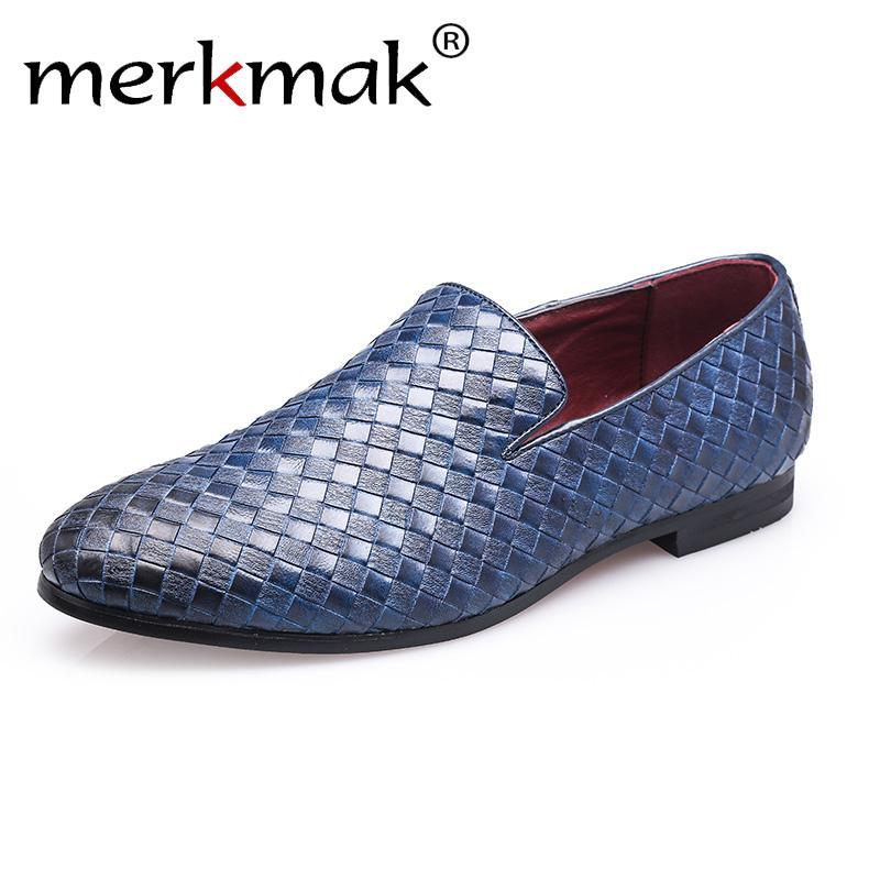 Drop Ship Herren Schuhe Marke Braid Leder-beiläufige Driving Oxfords Schuhe Herren Loafers Mokassins Italienisch für Wohnungen