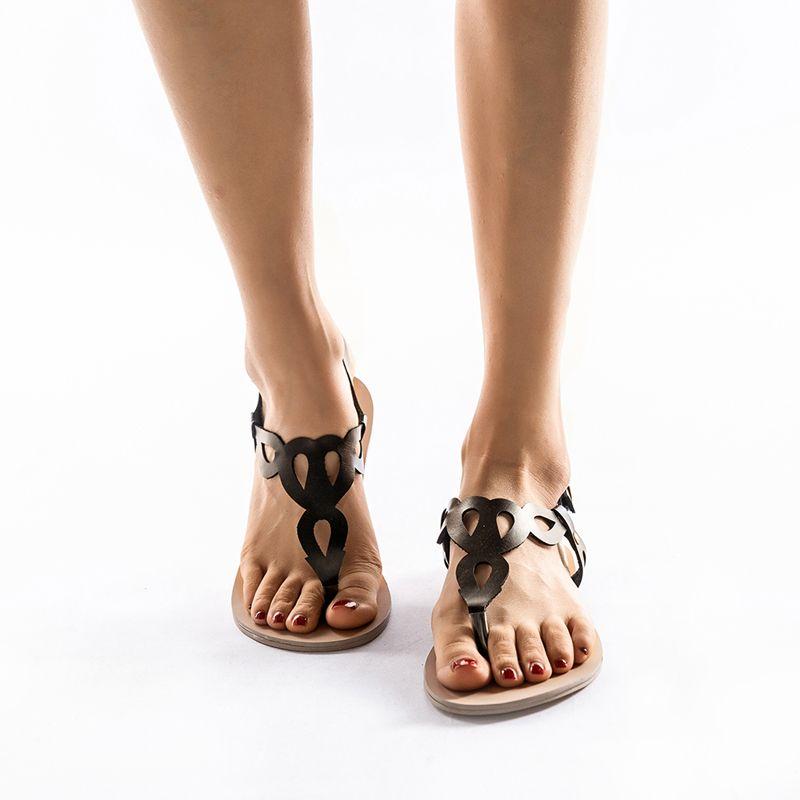 newest 7ff78 b69fd Großhandel Flache Sandalen Frauen 2019 Pu Leder Hohl Schuhe Damen Sandalen  Flache Freizeit Weibliche Flip Flop Schuhe Sandalia Feminina Von Giaogiaoo,  ...