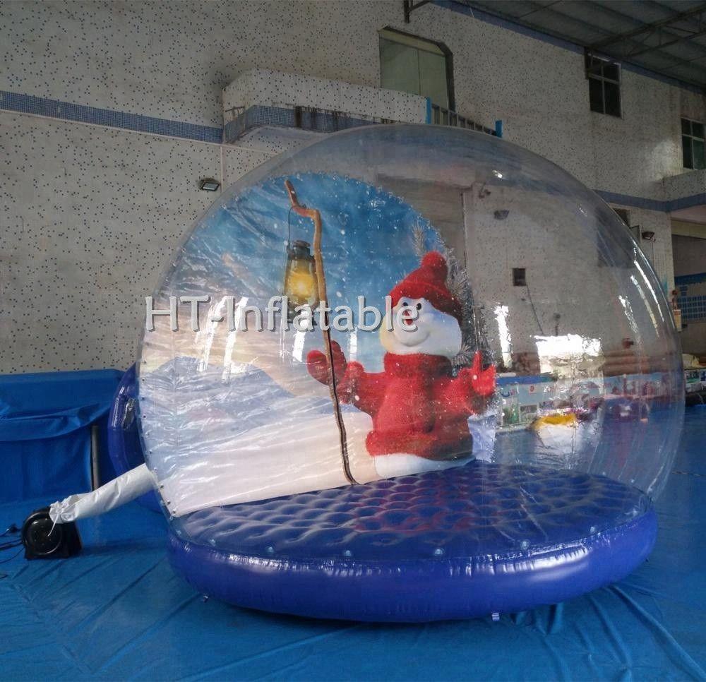 Freier Haus-Versand 3m Dia PVC Weihnachtsluftblasen-Kugel Aufblasbare Schnee-Kugel-Kugel für Verkauf, aufblasbare Schnee-Kugel für Weihnachten