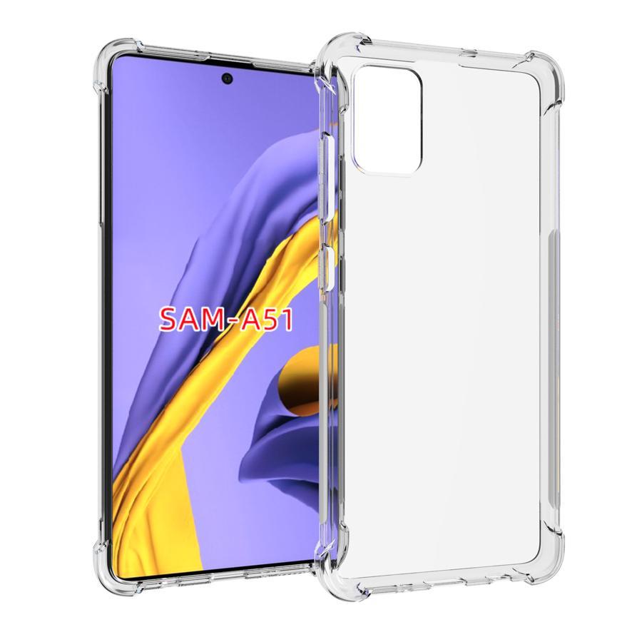 A prueba de golpes resistente a los arañazos transparente cubierta de la caja protectora de TPU para Samsung Galaxy versión A01 A11 A21 EEUU EEUU A21S A31 A41 A51 A71 M31 M51 5G