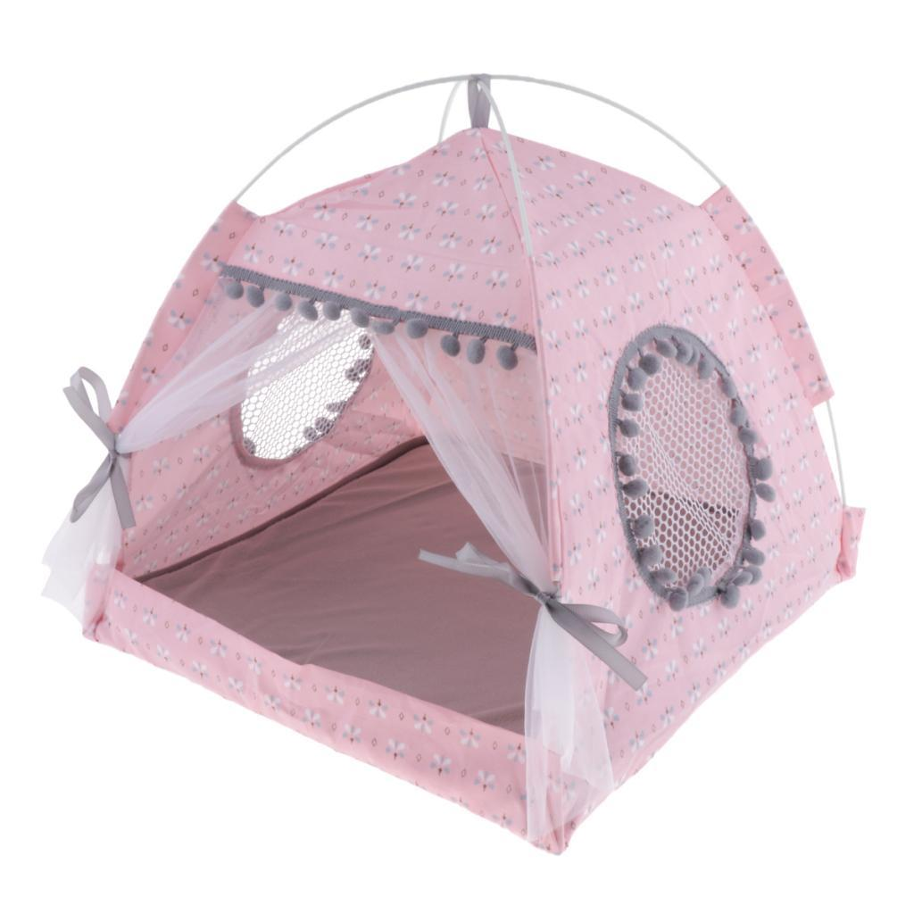 Chaton Pet Portable chiot Tipi Spring Comfort Tente Nest Cave Bed Kennel M
