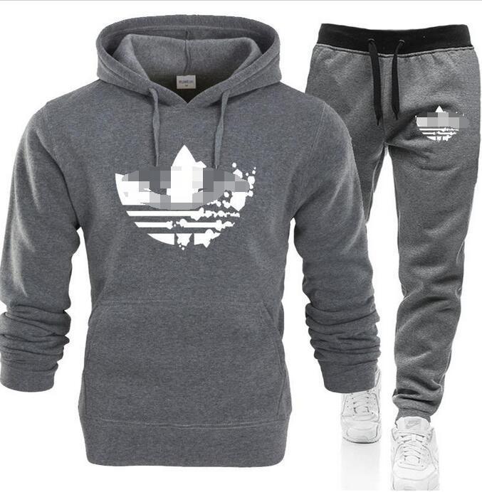 лучший shippingset Sweatsuit Tracksuit Men толстовки брюки Мужская одежда Толстовка Пуловер женщин вскользь теннис Спортивные костюм Пот костюм