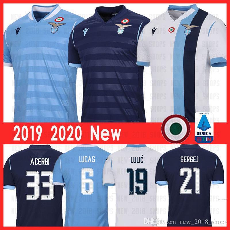 2019 2020 Lazio Fußball-Trikots LUIS ALBERTO IMMOBILE J.CORREA SERGEJ ACERBI LUCAS MARUSIC camiseta de fútbol Fußball Trikot Erwachsene
