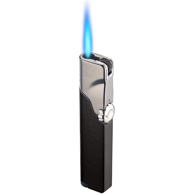 Torch Lighter Grinding Wheel Direct Rotary Switch Personalized Creative Metal Windproof Lighters Smoking Accessories