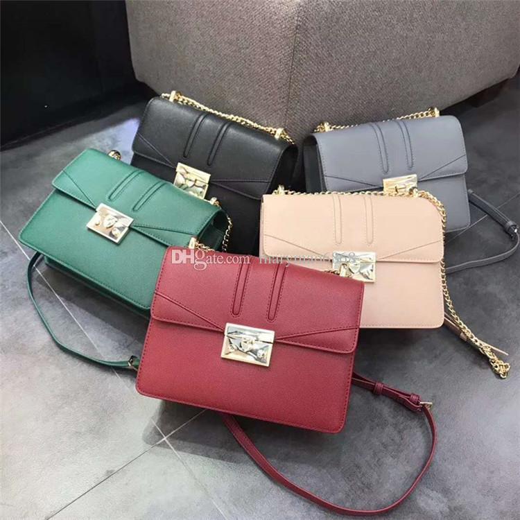 Designer Fashion Luxury Ladies Small ck Chain Shoulder Bags Lock Buckle Messenger Bag Women Crossbody Female Retro Chic Square Mini bag