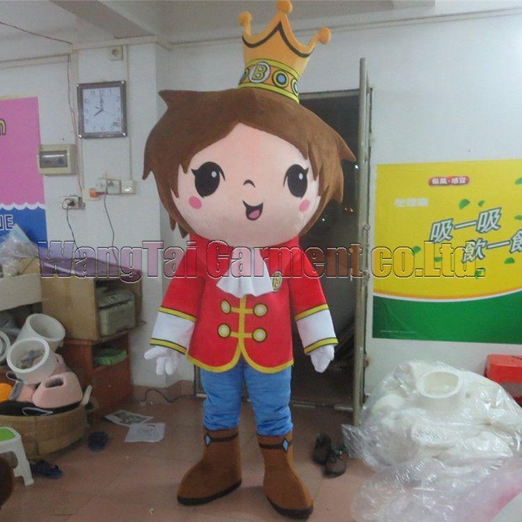 König Maskottchen-Kostüm-freies Verschiffen Erwachsene Größe, Prinz Maskottchenklage Plüschspielzeug Karneval Anime-Film klassischen Cartoon-Maskottchen Werksverkauf