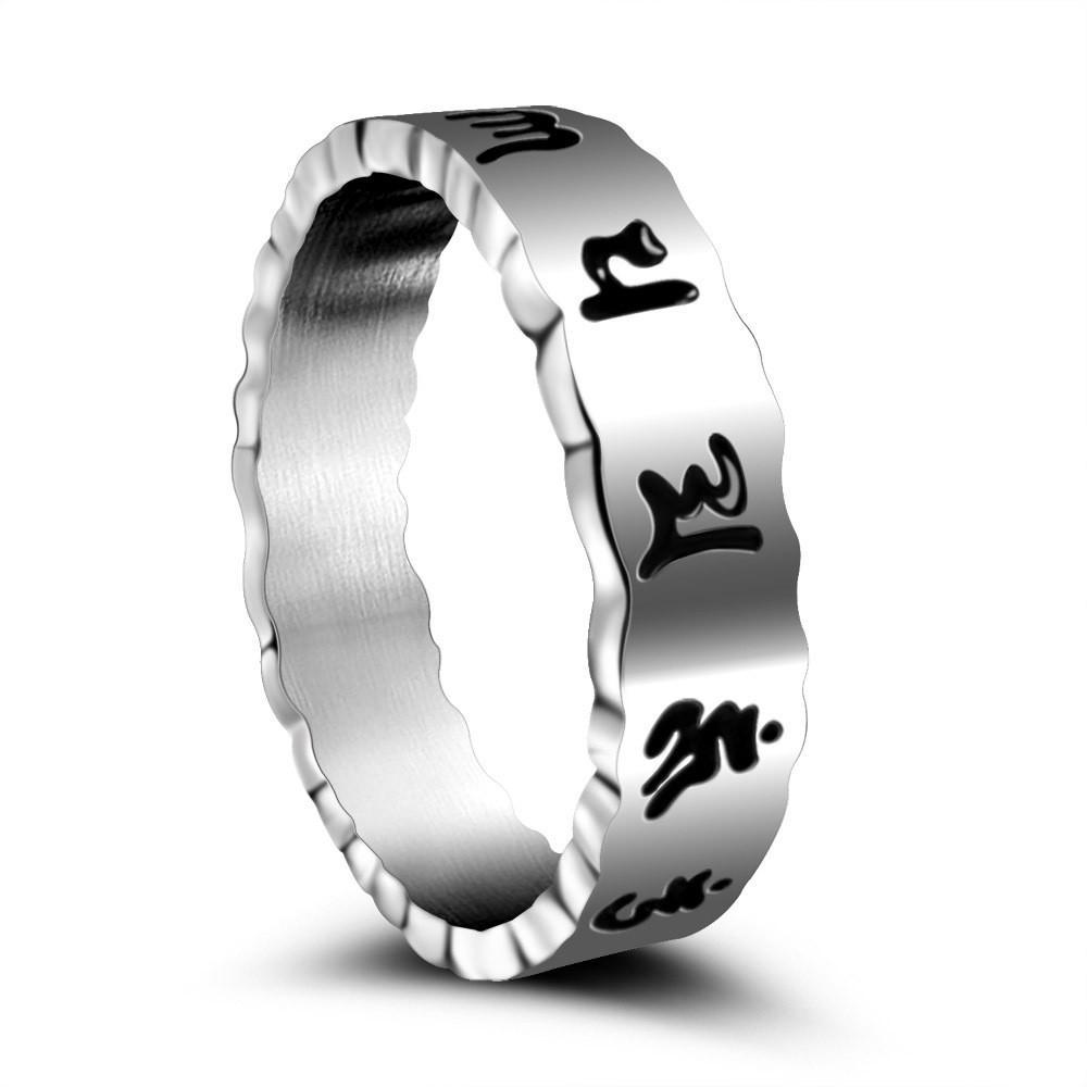 Titanium de acero inoxidable hombre dedo anular del partido de la roca del regalo de la manera ocasional de joyería Accesorios nunca se descolora SA909