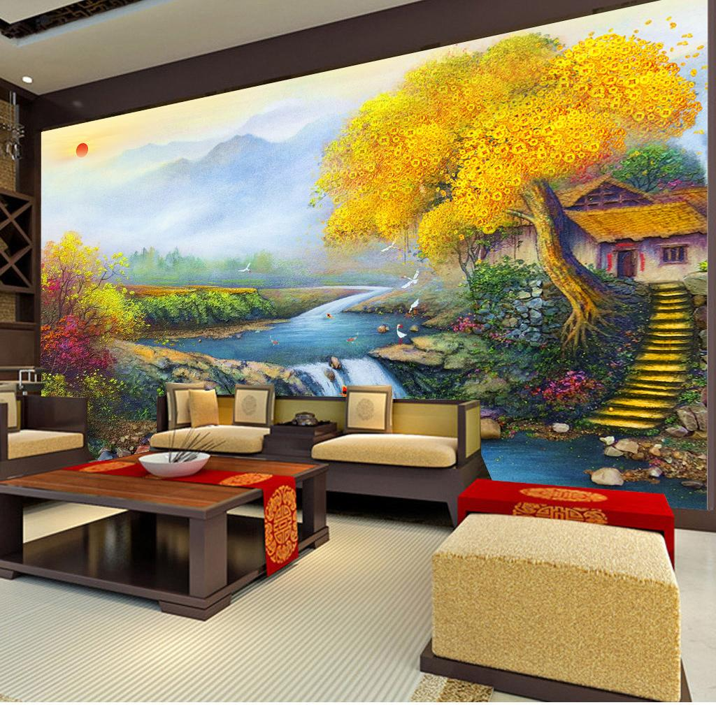 Good Luck Lucky Treasure Family Feng Shui Painting Living Room