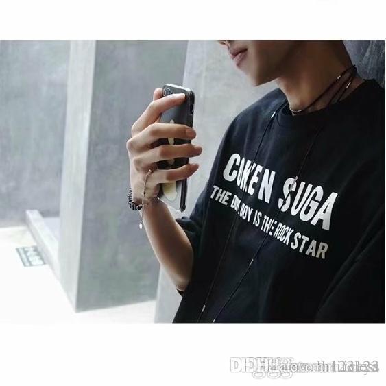 2019 yazında yeni kısa kollu rahat tişört gevşek erkekler Koreli gömlek şefkatli öğrenci erkek giyim