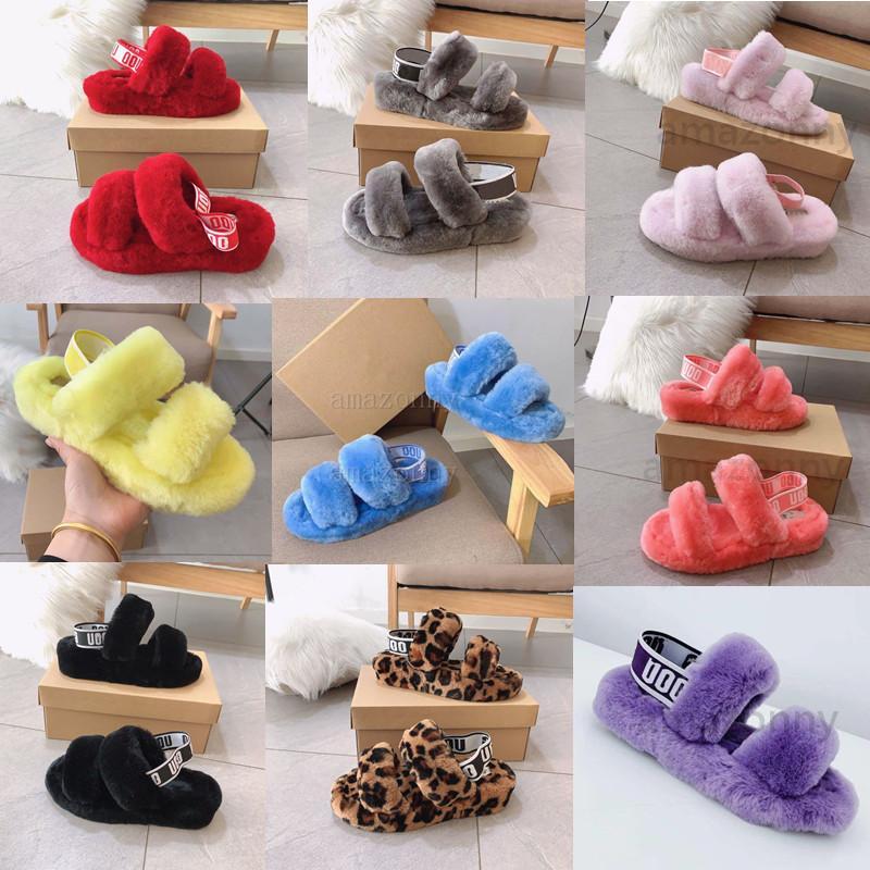 Frauen neue Stiefel Slipper Fashion Luxury Designer-Kind-Pelz-Hausschuhe Sandalen Oh Yeah Designer Flip Flops Designer Bequeme Damenschuhe