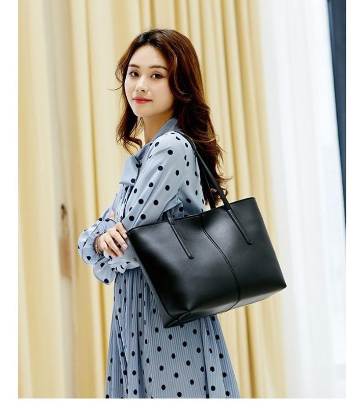 2020 Simple Brief Tote Bags Fashion All-match Large Capacity Shoulder Bags Portable Hand PU Leather Handbags bolsa feminina