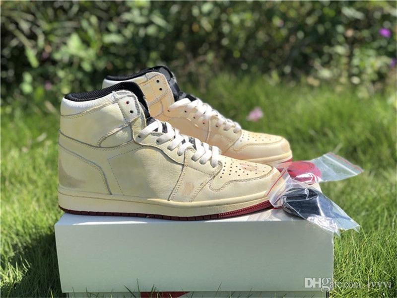 LIBERACIÓN DE 2019 NIGEL SYLVESTER X 1 HOMBRES HOMBRES Zapatos de baloncesto Running Sneakers Authentic Leather BV1803-106 1S zapato de diseñador con caja de OG