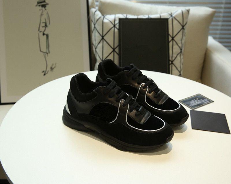 Chanel 2020 nuove scarpe GNER Uomo Sneaker lusso D cuoio comoda casuale B22 Trainer Walking Knit Meshu Scarpe
