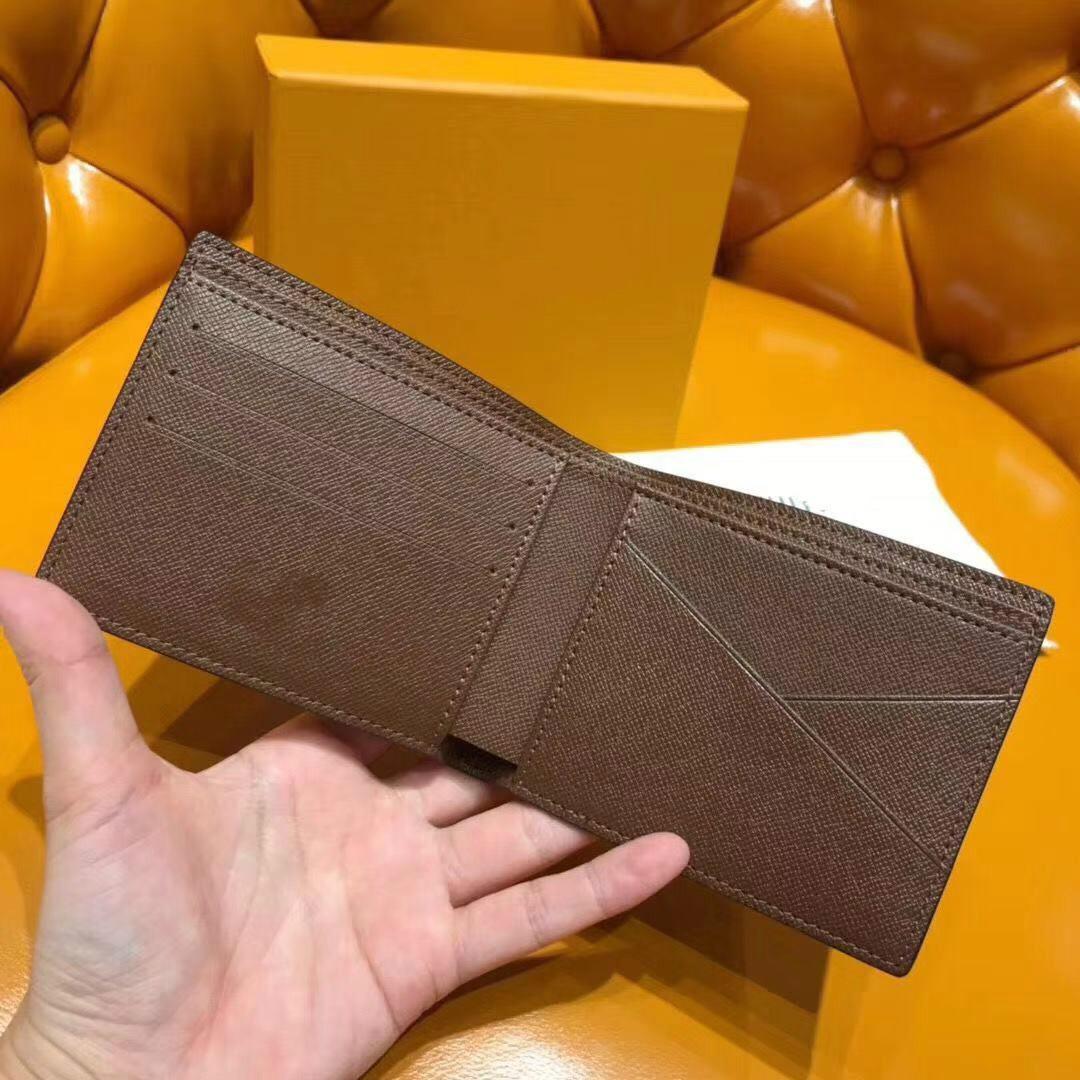 Paris estilo xadrez dos homens do desenhista carteira homens famosos luxo carteiras lona especial carteira pequena curta múltipla bifold com caixa