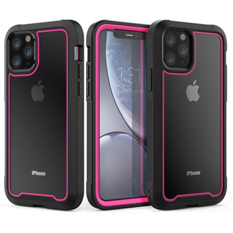 Two Tone Phone Case pour iPhone 11 Pro MAX XS XR X 8 7 6 6S Plus Anti-chute acrylique PC dur de couverture