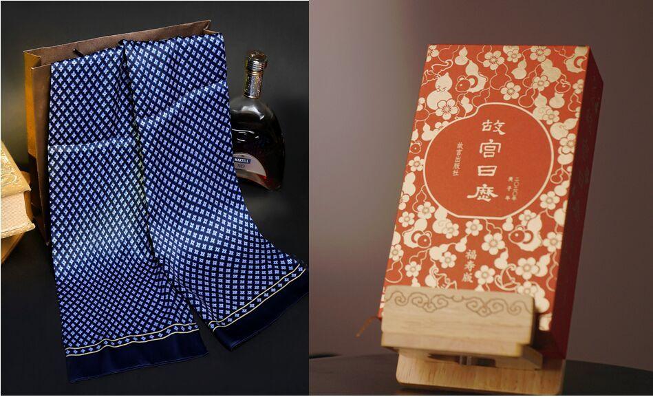 Kaufen 5 Schal bekommt Verbotene Stadt Kalender kostenlos 100% Seide Männer Schal Double Layer aus Seide und Satin Halstücher 5pcs / lot # 4137