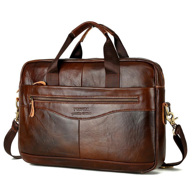 GUMST Многофункциональные Мужчины плеча диагональ сумки Бизнес Портфель Корова кожа Мужская мода 14-дюймовые сумки