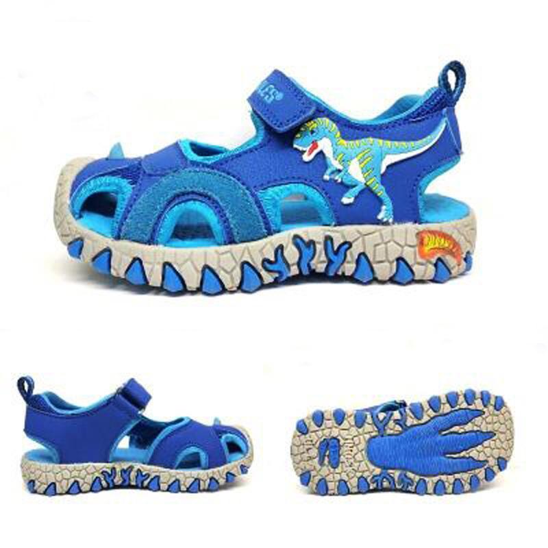 Dinoskulls تو المطاط مقفلة الصنادل الأطفال في الصيف الصنادل بنين أزياء أطفال عادية أحذية الديناصور الرياضة الصنادل 3D Y200404