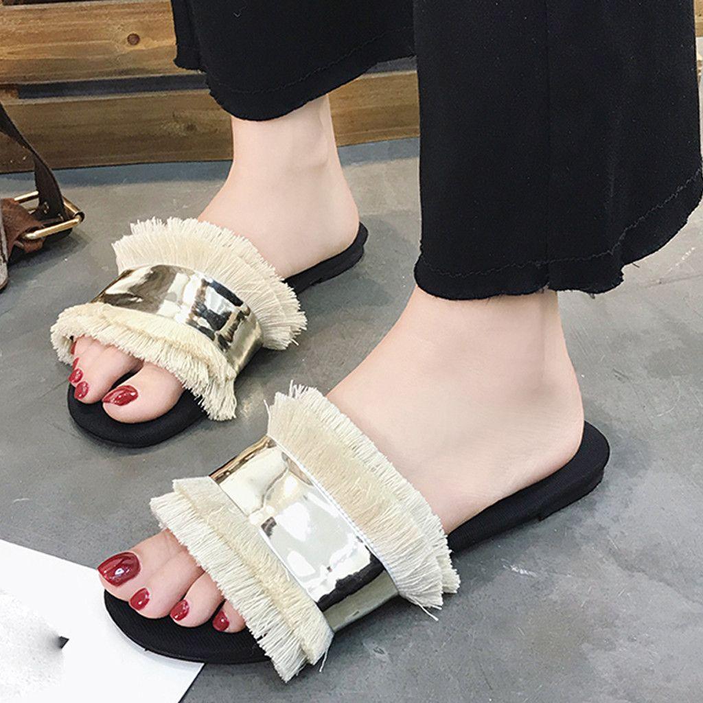 Christmas Decoration Seamless Summer Slide Slippers For Men Women Kid Indoor Open-Toe Sandal Shoes