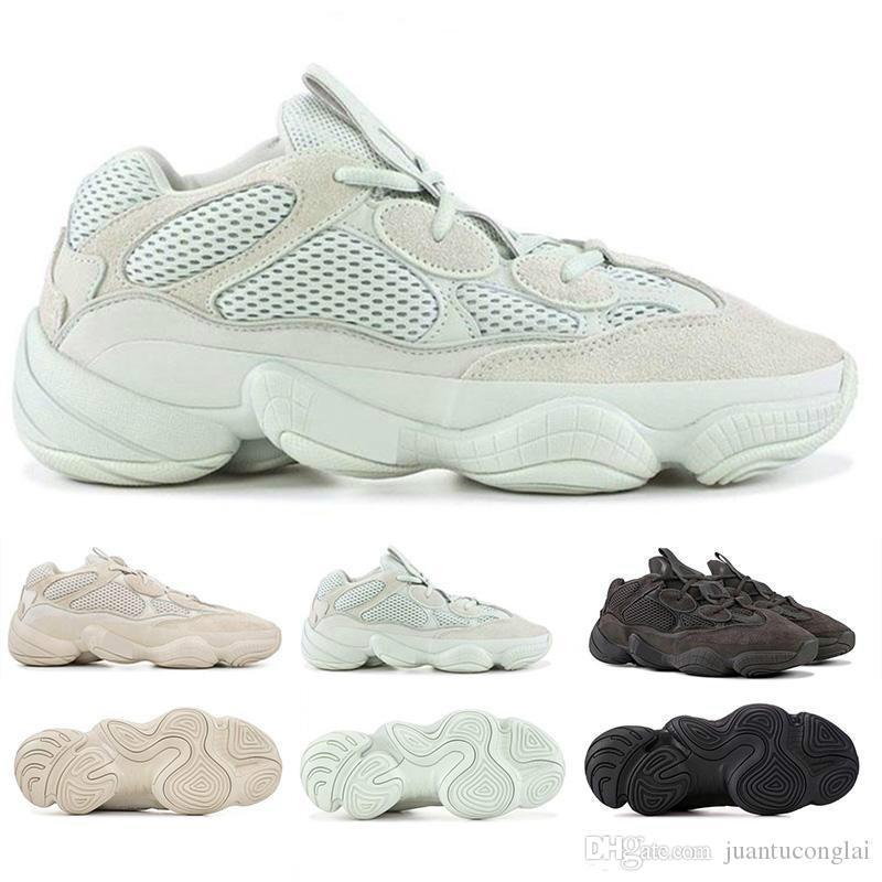 Kanye West 500 Jaune Gris clair Chaussure de course Entraînement Femmes Desert Rat Noir Runner F36640 super Lune jaune DB2966 Designer Hommes Sneakers