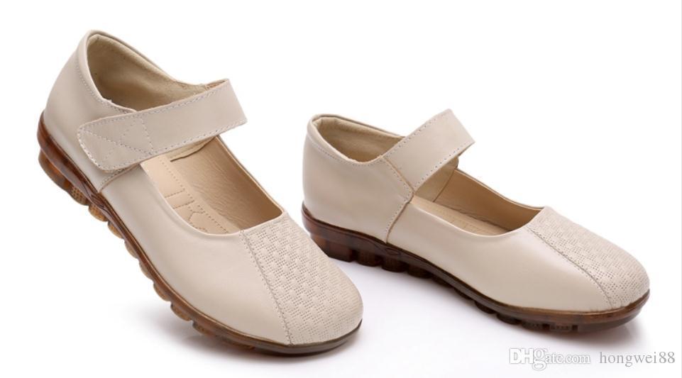 2019 Chaussures femmes au printemps et à l'automne avec le style Nouveau chaussures plates mère tête à fond rond @ 287