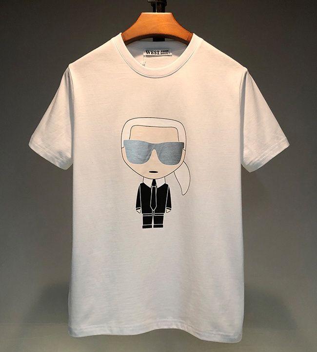 2020 Luxury Designer coton pour hommes T-shirt de haute qualité Hommes Femmes Cartoon Imprimé à manches courtes T-shirt Couple Mode T-shirt blanc 2 couleur