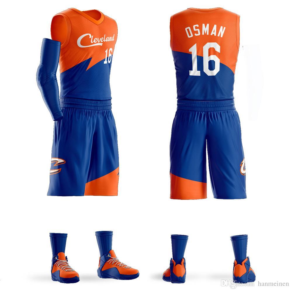 Uomini universitario sportivo Osman pallacanestro Jersey Imposta Uniformi Maglie sportive per adulti abbigliamento maglie da basket traspiranti pantaloncini personalizzati fai da te