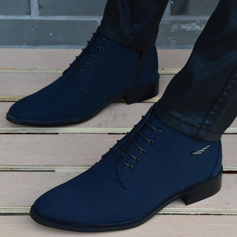 2019 New fashion Boots Men canvas Shoes Men Ankle Boots sping autumn Oxford Shoes For Men Boots
