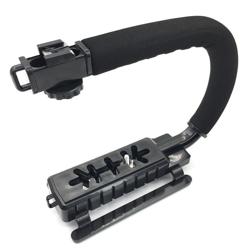 C Shaped Holder Grip Video Handheld Stabilizer for DSLR Nikon Canon Sony Camera and Light Portable SLR Steadicam for Gopro
