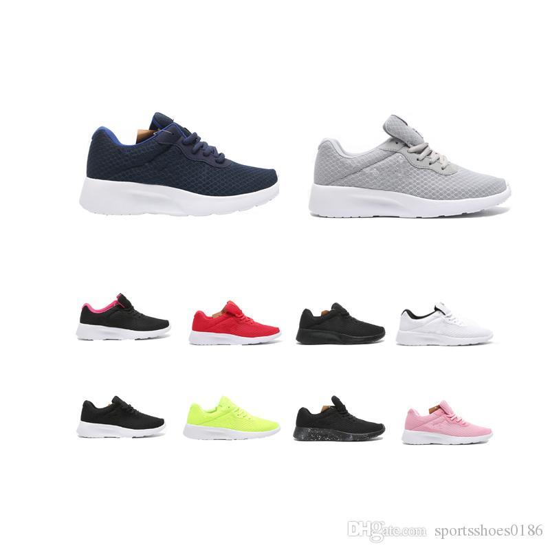 Tanjun 2020 preto branco azul vermelho Sneakers Homens Mulheres Esportes calçados casuais London Olympic Executa sapatos de corrida trainer