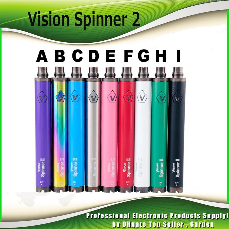 Vision Spinner 2 II Battery 1650mAh Ego Evod C Twist Voltaje variable VV Vision2 Battery For 510 Thread E Cigs Atomizer