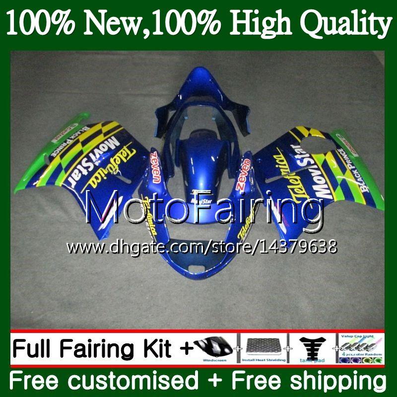 Обтекатель Кузов для HONDA Blackbird CBR1100 XX 02 03 04 05 06 07 Movistar Blue 53MF21 CBR1100XX CBR 1100XX 2002 2003 2004 2005 2006 2007