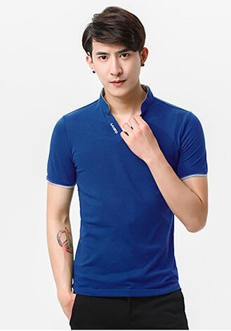 남성 반팔 POLO 셔츠, 유행과 캐주얼, 코튼 소재, 흰색, Wlack, 그레이, 레드, 그린, 블루와 퍼플, M - 5X를 가지고 순수한 색상