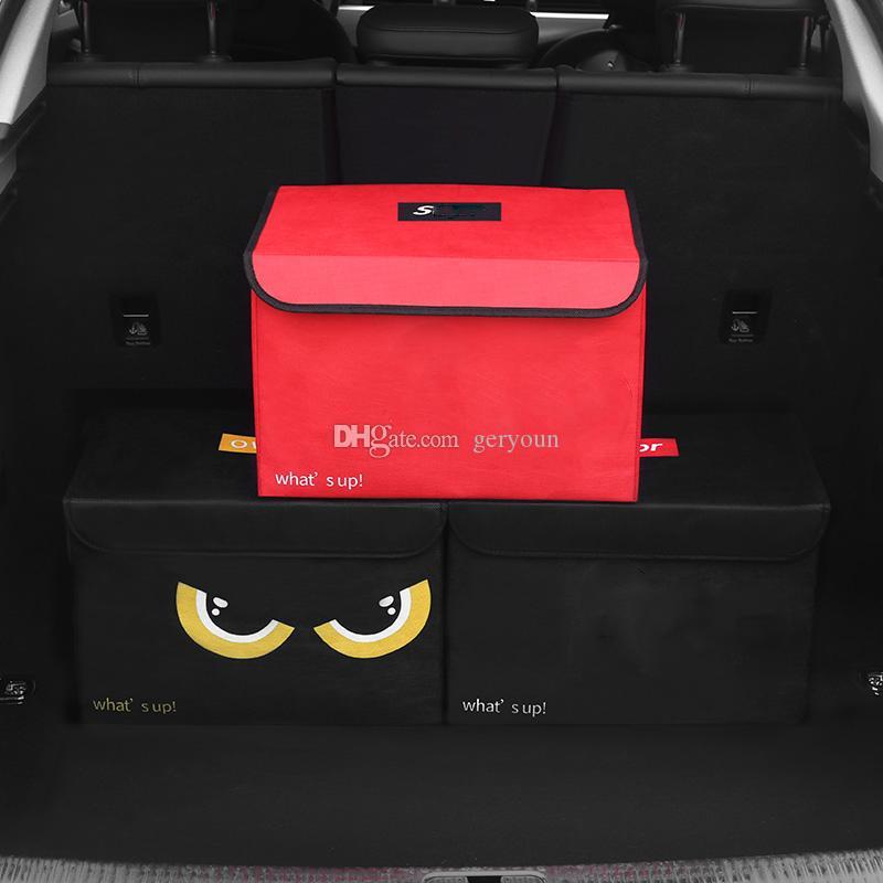 لوازم السيارات جذع صندوق تخزين حجم كبير العصرية قماش قابلة للطي صندوق تخزين السيارات جذع التخزين وزارة الداخلية