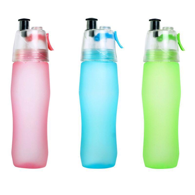 Sports de plein air Vaporiser portable Clear bouteille d'eau en plastique Cuvettes Anti-fuite Boisson pour Courir Escalade Cyclisme