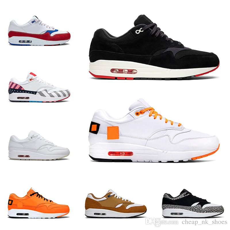 New men women running shoes 1 Puerto Rico Parra white Patch fashion 87 mens trainers sports sneakers jogging walking size 36-45