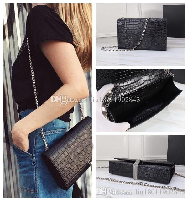 8A Classique sac à bandoulière chaîne de mode sac à franges en cuir véritable oblique à travers le sac à franges qualité sacs à main en peau de vache sacs de crocodile
