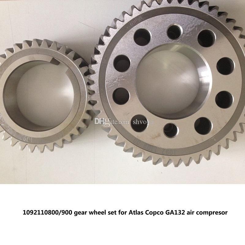 O envio gratuito de engrenagem Genuine conjunto roda de engrenagem do eixo 1092110800/900 para Atlas Copco GA132 parafuso peças do compressor de ar