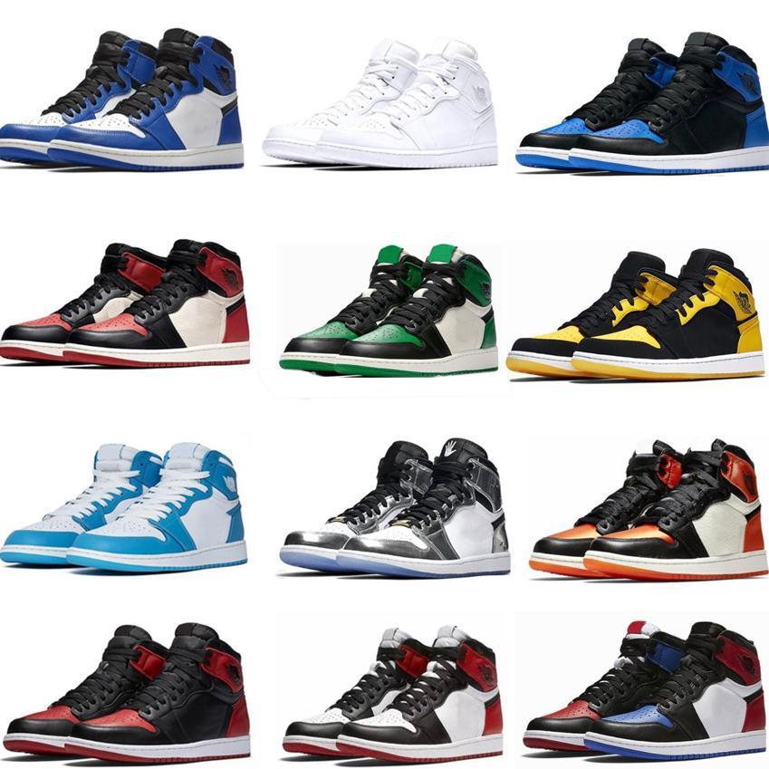 Yüksek OG Bred Burun Chicago Orta Mens 1s Basketbol Ayakkabıları Oyun Kraliyet Gölge Siyah Burun Bred Kırmızı Mavi Beyaz adamlar Sneakers Ayakkabı Yasaklı