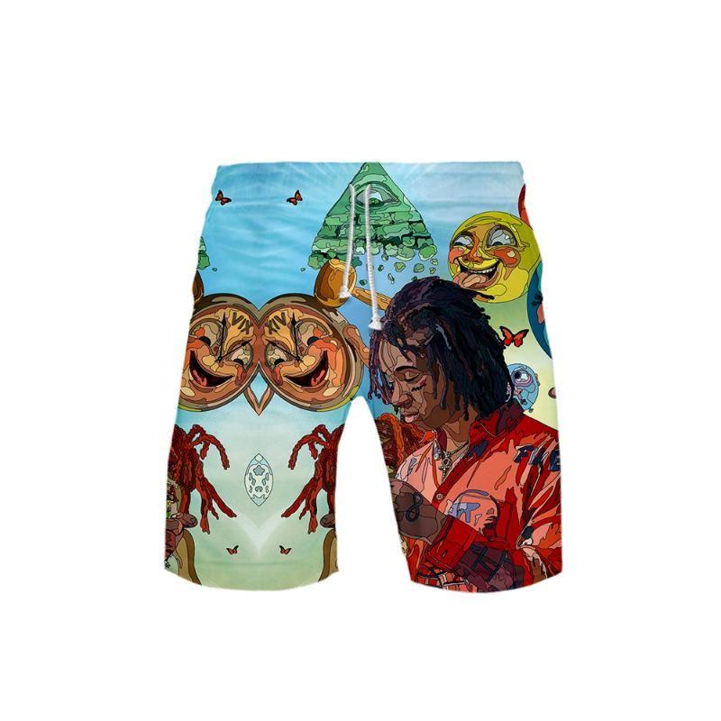 Trippie 3D Hommes Redd Board Shorts 3D Trunks été Nouveau Quick Dry Hommes Hip Hop trippie Redd pantalons courts vêtements de plage